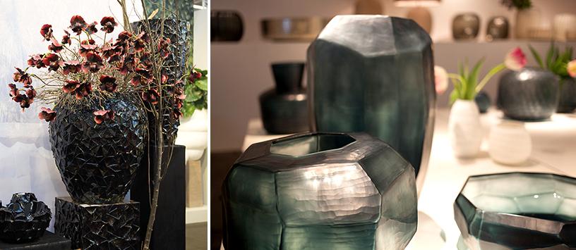 Vasen in geometrischem Design auf der Trend Tour der Ambiente Messe Frankfurt