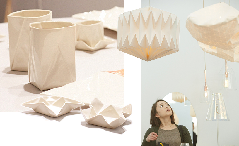 Origami-Style-bowls-ceiling lights-white