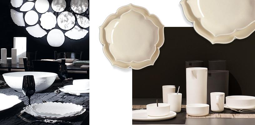 White gold-Porcelain tableware-snow white-table vase-crockery