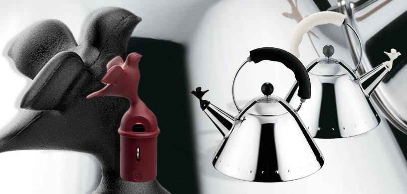 Alessi-1985-Michael Graves-kettle-Birdwhistle Kettle-Edelstahl-Bird-1