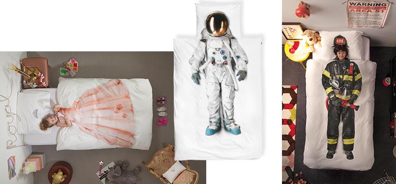 snurk cover astronaut fireman hat pillow