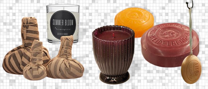 scented candle precious Millefiori soap home spa