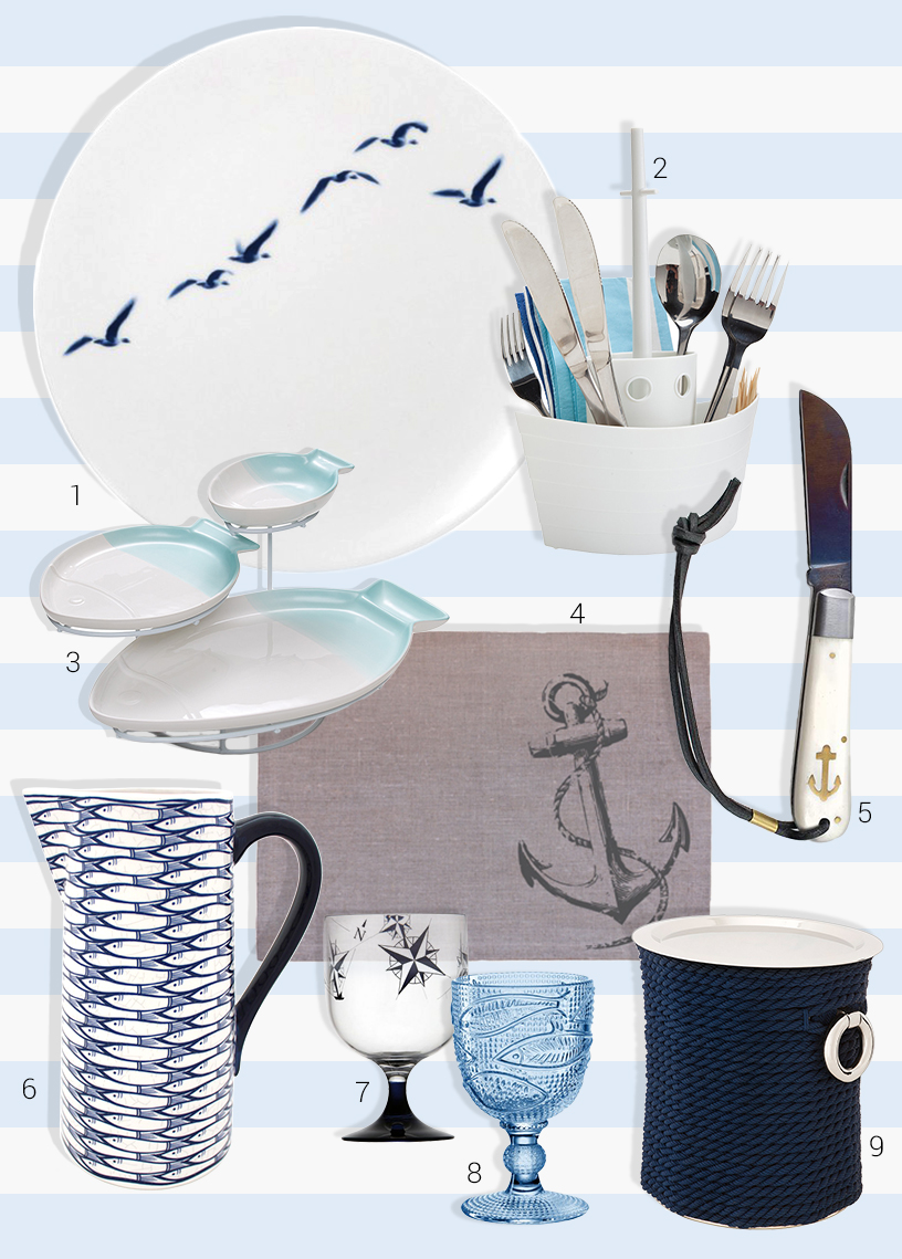 Maritime-Table-Crockery-Flatware-Seafood-Plate