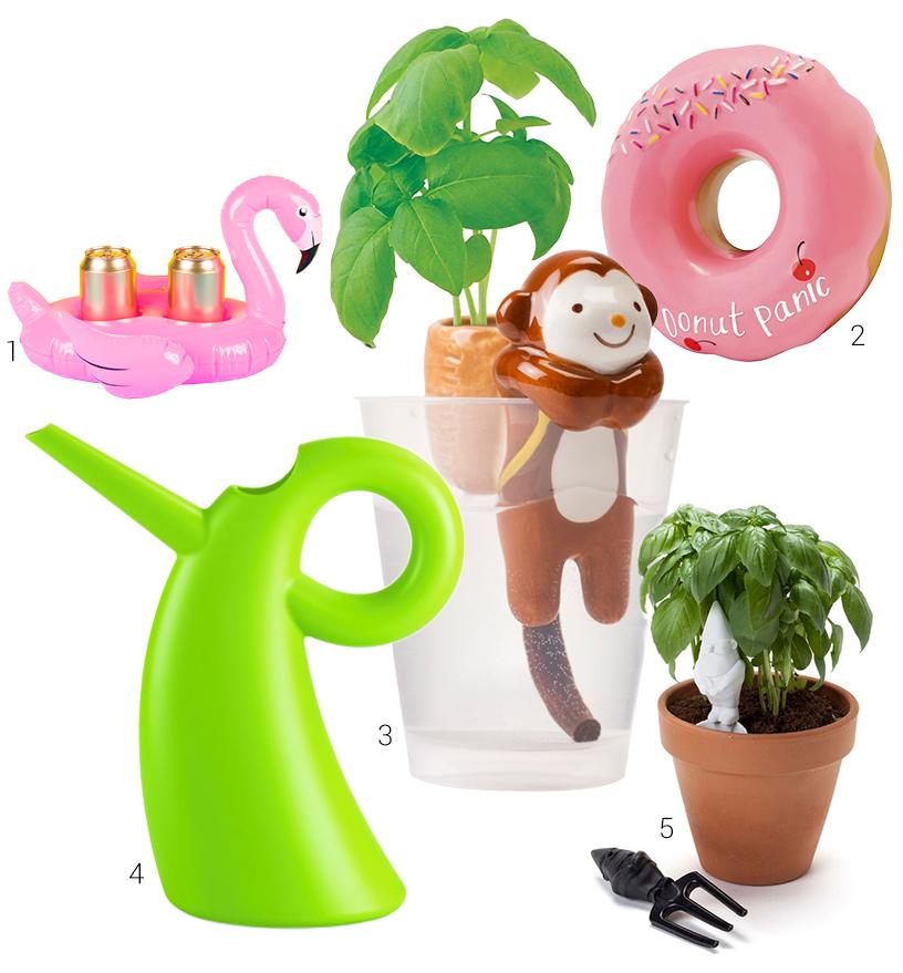 Sommerzeit-Garten-Pool-Tiere-Niedlich