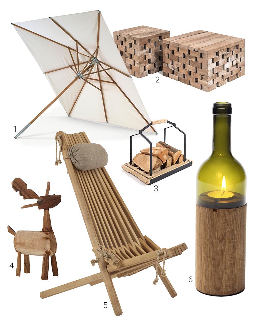 Terrasse-Sonnenschirm-Holzblocktraeger-Windlicht-Wald