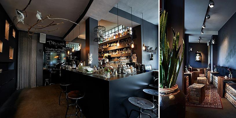 Bar ohne Namen-wooden-furniture-black-walls