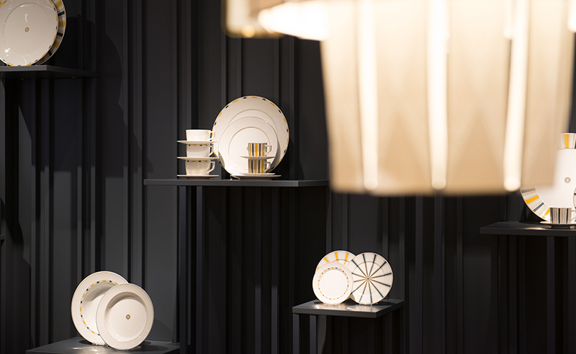 Geschirr-Gold-Teller-Lampe