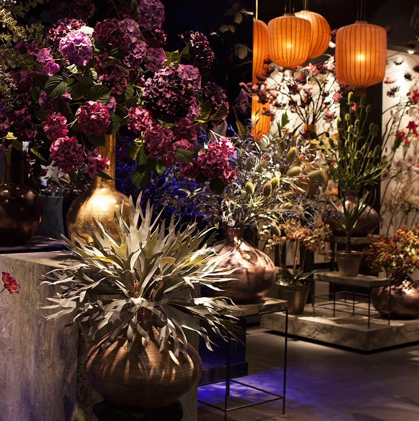 Pflanzen-Blumen-Living