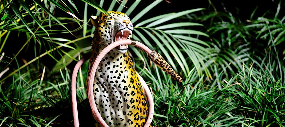 Dschungelstil-Palmen-tropisch-Safari