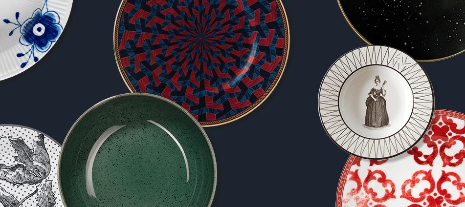 Ambiente Geschirr Porzellan Teller Muster