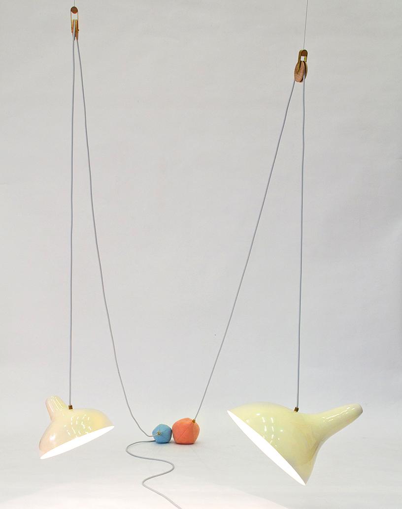 Lampe organisch Retro Chic Farbe Designership