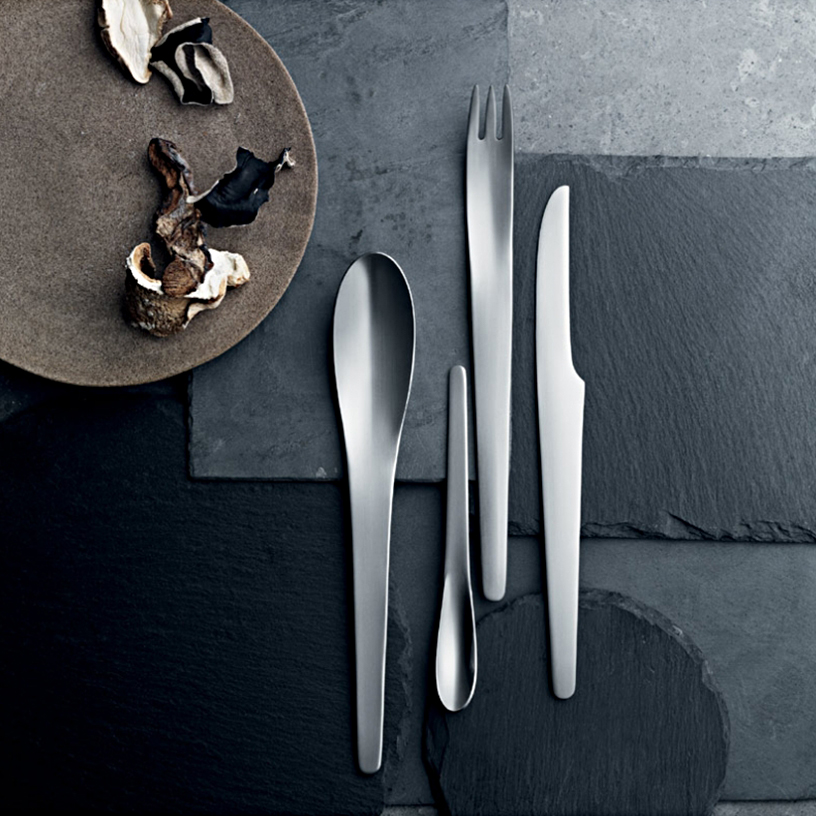 Arne Jacobsen design cutlery from the Georg Jensen brand