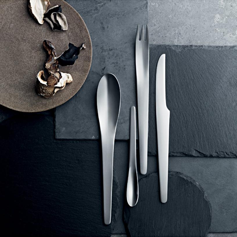 Arne Jacobsen design cutlery from the Georg Jensen brand
