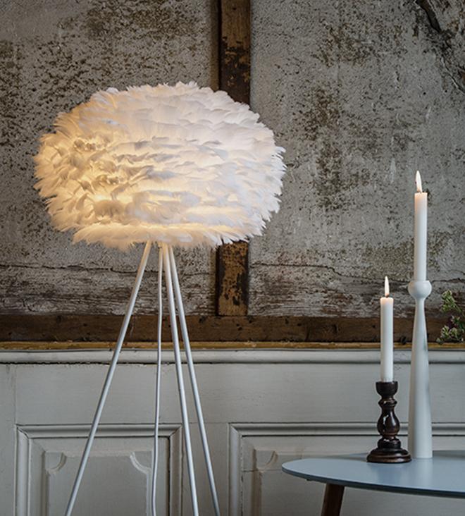 nature Inspiration feather lamp from Vita Copenhagen