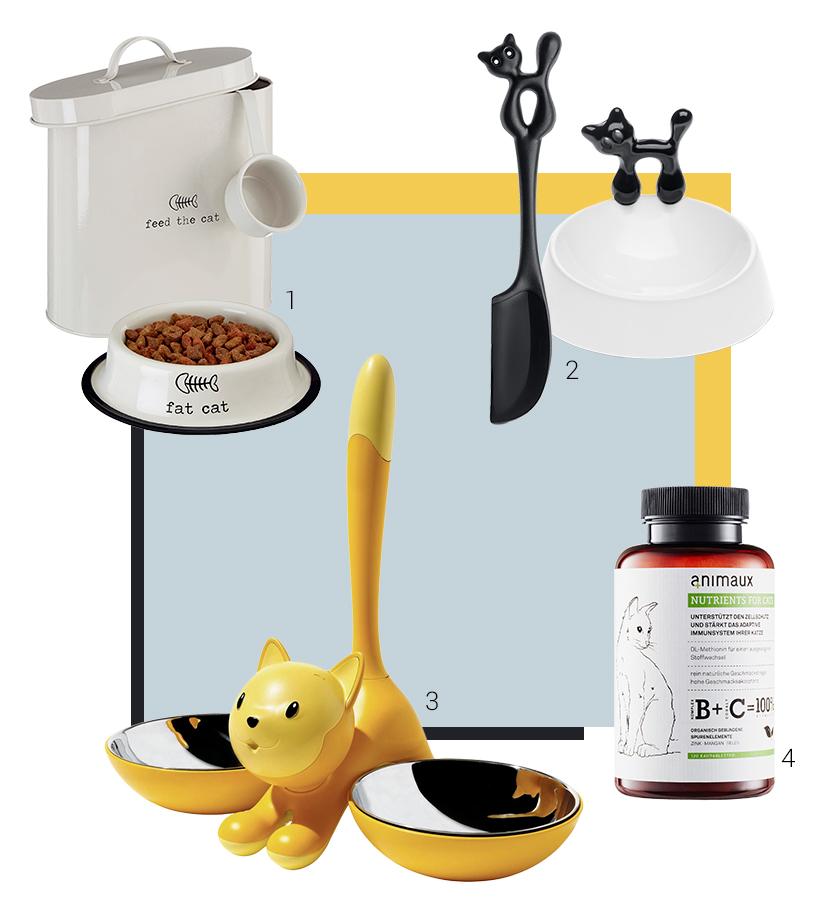 Collage aus Produkten zu den Themen Futter und Fressen von Ausstellern der Ambiente Messe