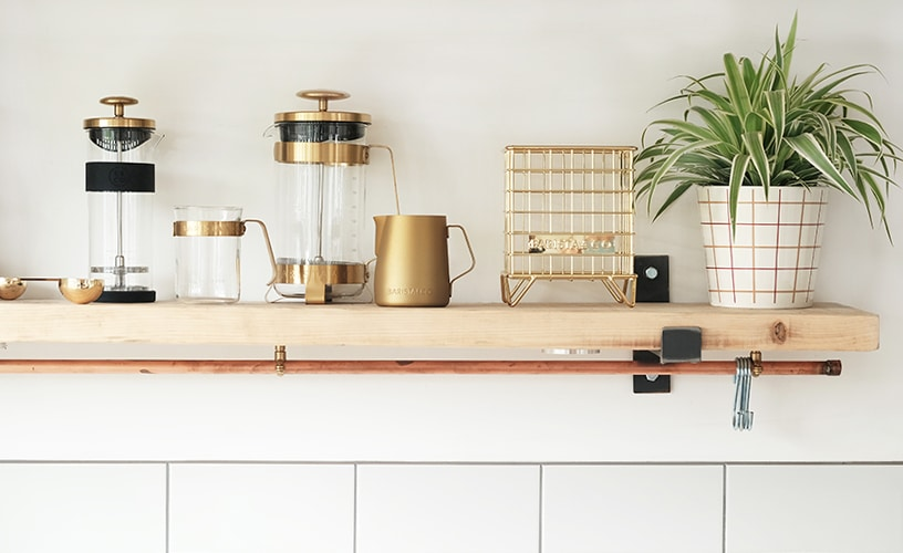 Kupferfarbenes Kaffee-Zubehörset von Barista & Co.