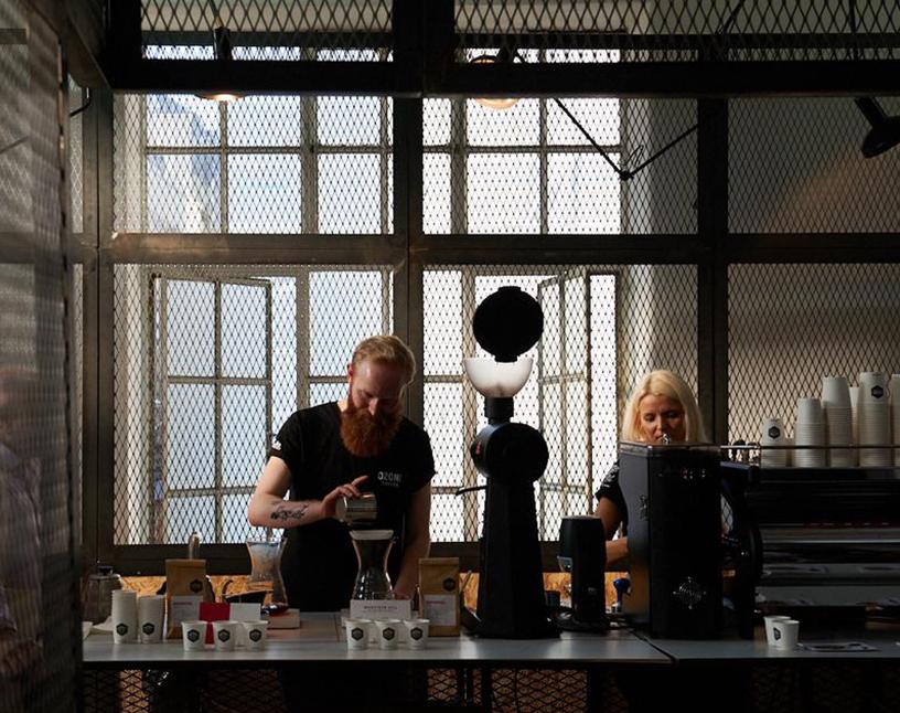 Einblick in die Zubereitung von Kaffee auf dem London Coffee Festival