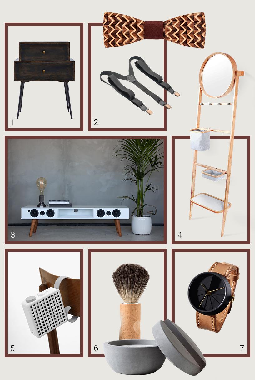 Geschenkideen aus natürlichen Materialien im Retro-Look zusammengestellt in einer Collage von Ausstellern der Ambiente Messe