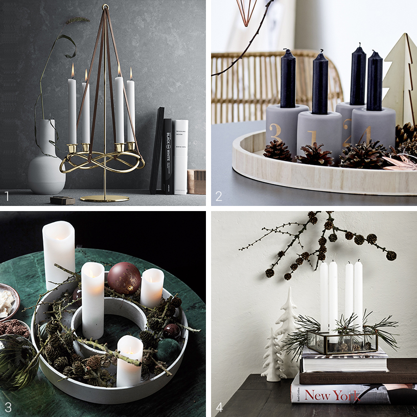 Four advent wreath inspirations from elegant to natural