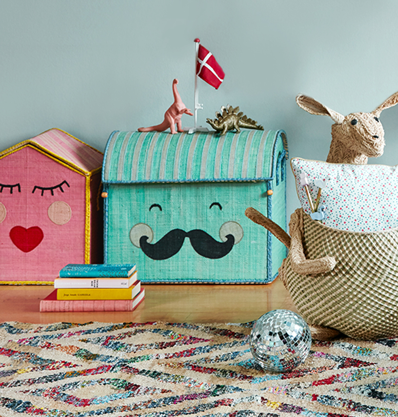 The Storage Houses are useful and look cheerful with their cute face design and pastel colour