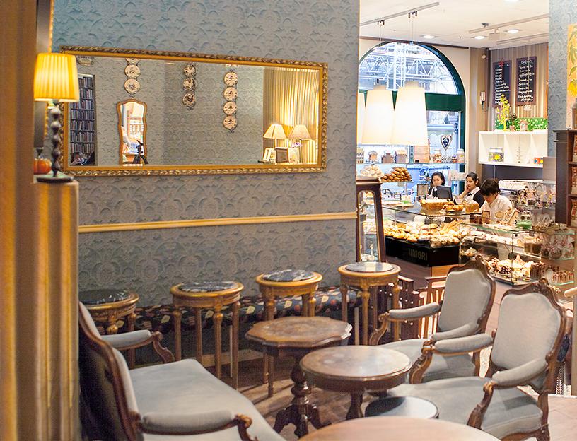 Interior von Iimori im neuen Altstadtviertel Frankfurt im Vintage Stil