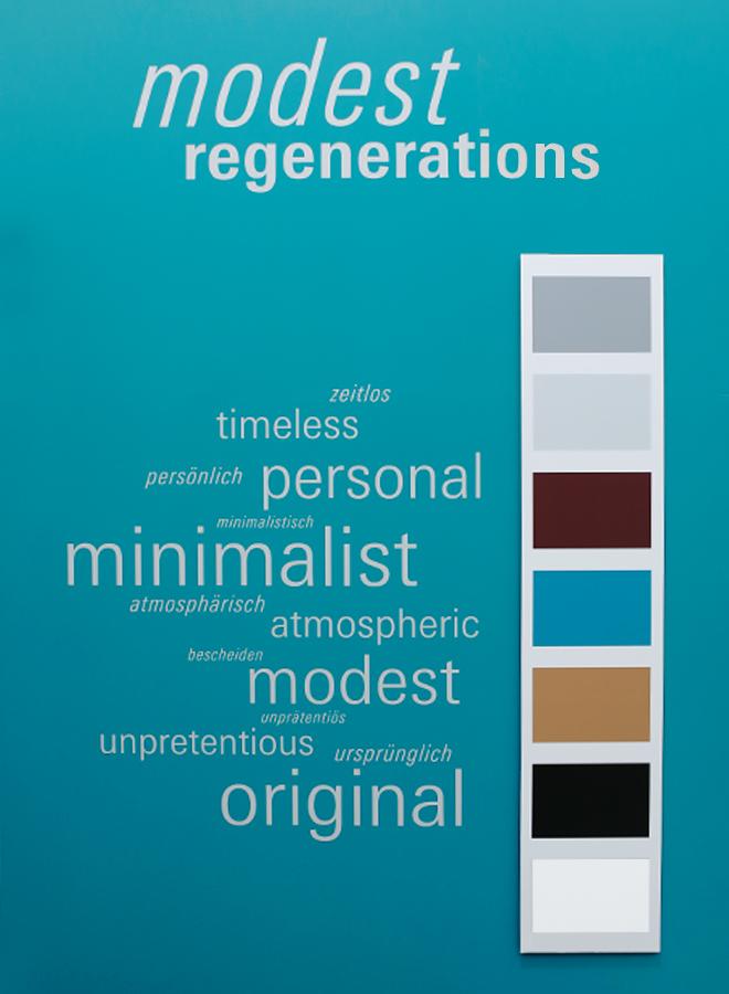 Pantone Farben für den Trend Modest Regenerations auf der Ambiente 2018
