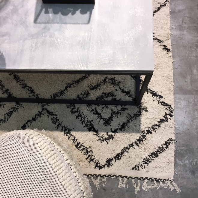 Carpet and side table from House Doctor at Ambiente 2018