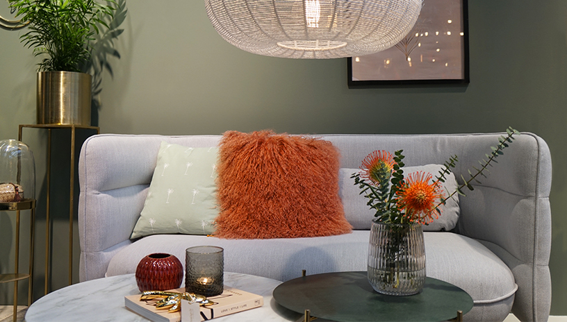 Couch, side tables and interior accessories from Bloomingville at Ambiente 2018
