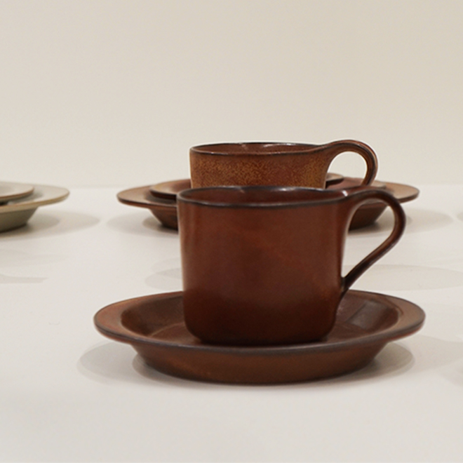 Teacup and plate from Ceramic Japan at Ambiente 2018