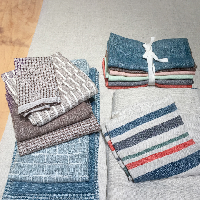 Linen kitchen towels from Lapuan Kankurit at Ambiente 2018