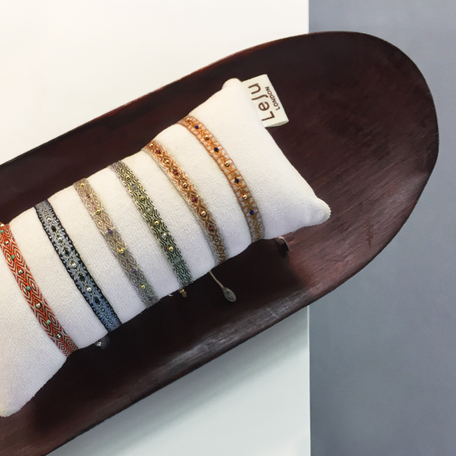 Fabric bracelets from Leju at Ambiente 2018