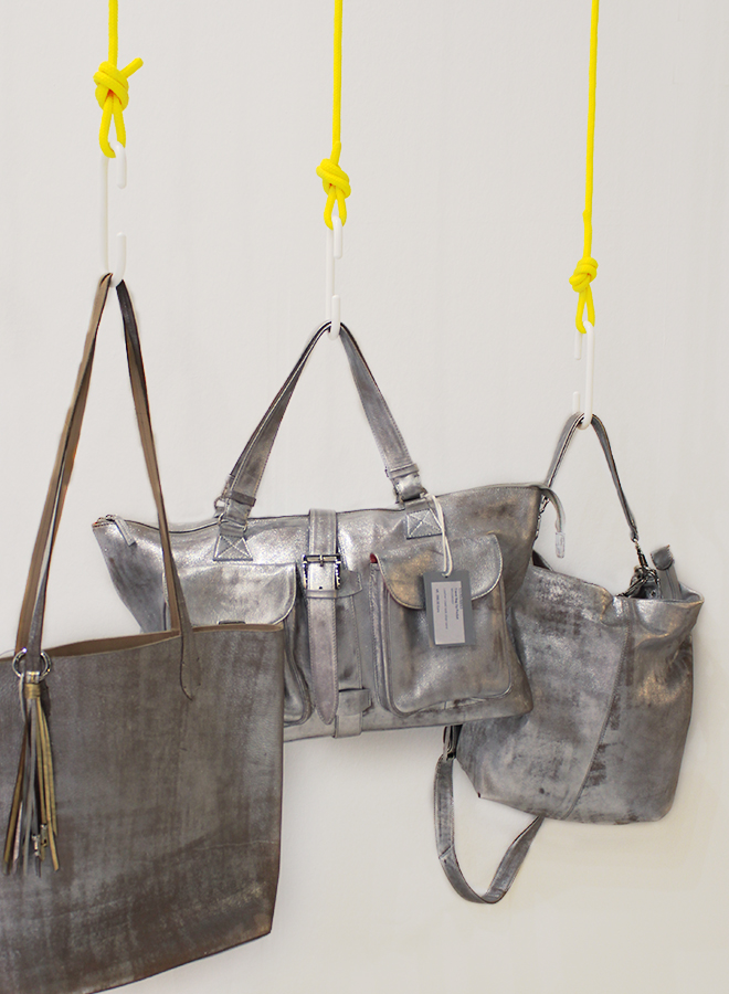Metallic bags from Nicole Pietag at Ambiente 2018