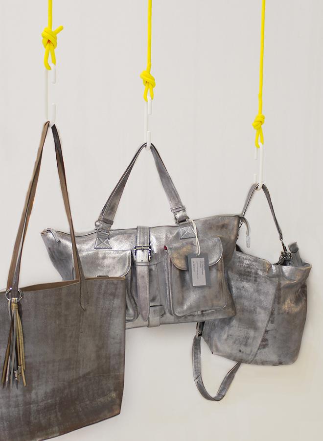 Metallic-Taschen von Nicole Pietag auf der Ambiente 2018