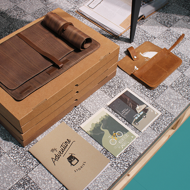 Office accessories from Roadtyping, Keecie, Fabriano Boutique at the trend presentation Modest Regenerations at Ambiente 2018