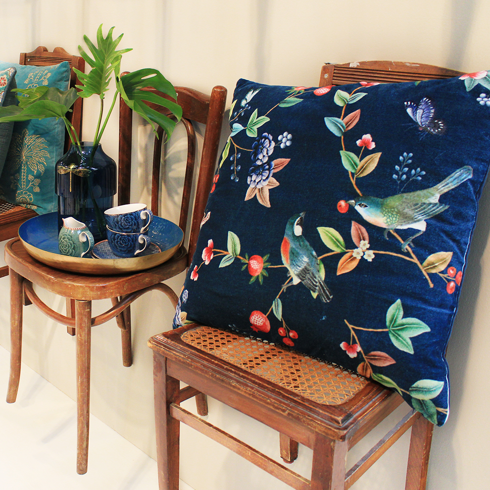 Chairs, pillows, tray and accessories from Pip Studio at Ambiente 2018