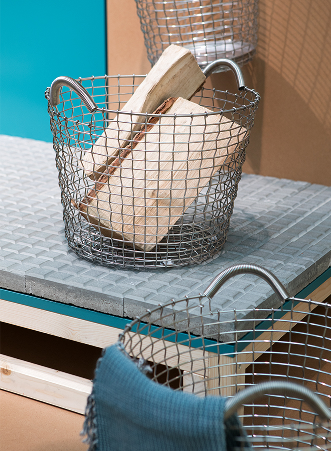 Wire basket from Korbo at the trend presentation Modest Regenerations at Ambiente 2018