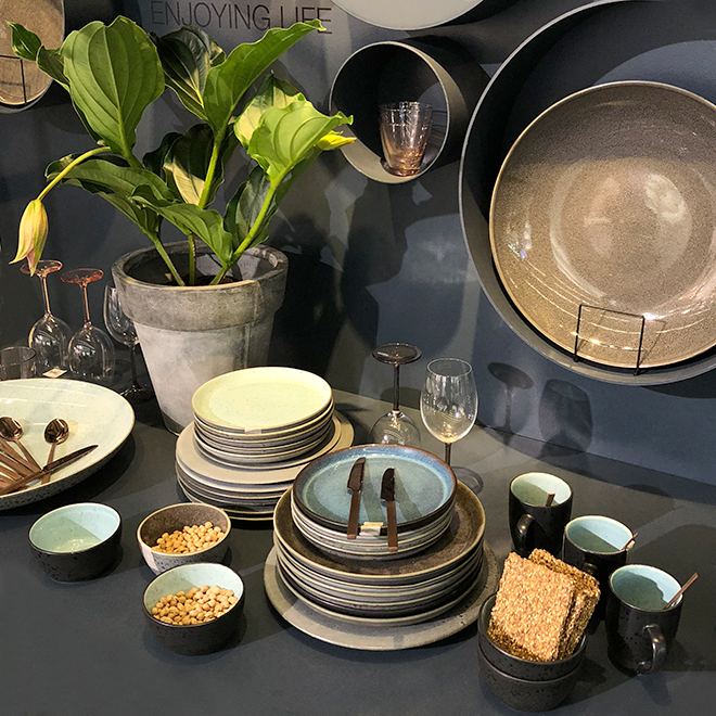 Tableware, glasses, cutlary and vase from Bitz at Ambiente 2018