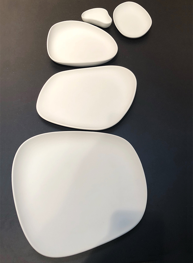 White plates from Cookplay at Ambiente 2018