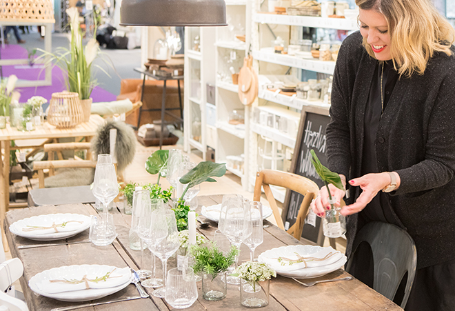 Holly Becker from Decor8 blog in the Dining area at Ambiente 2018