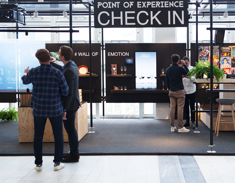 Check In at the special presentation Point of Experience at Ambiente 2018