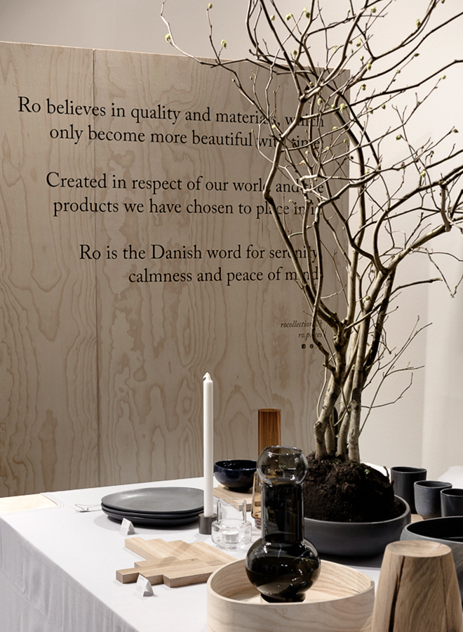 Products for the table and accessories from Ro Denmark at Ambiente 2018