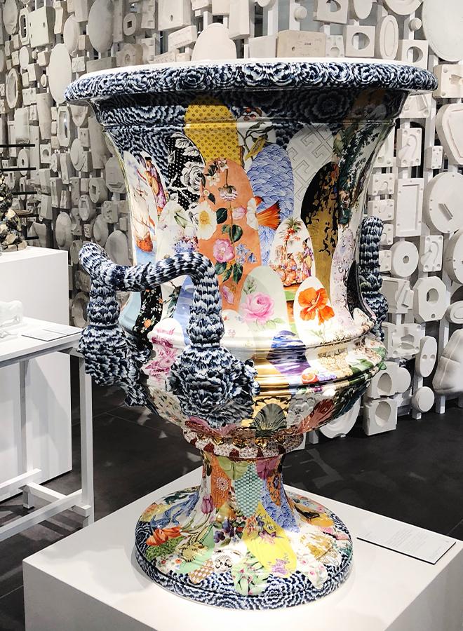 Vase mit historischen Mustern bei Meissen auf der Ambiente 2018