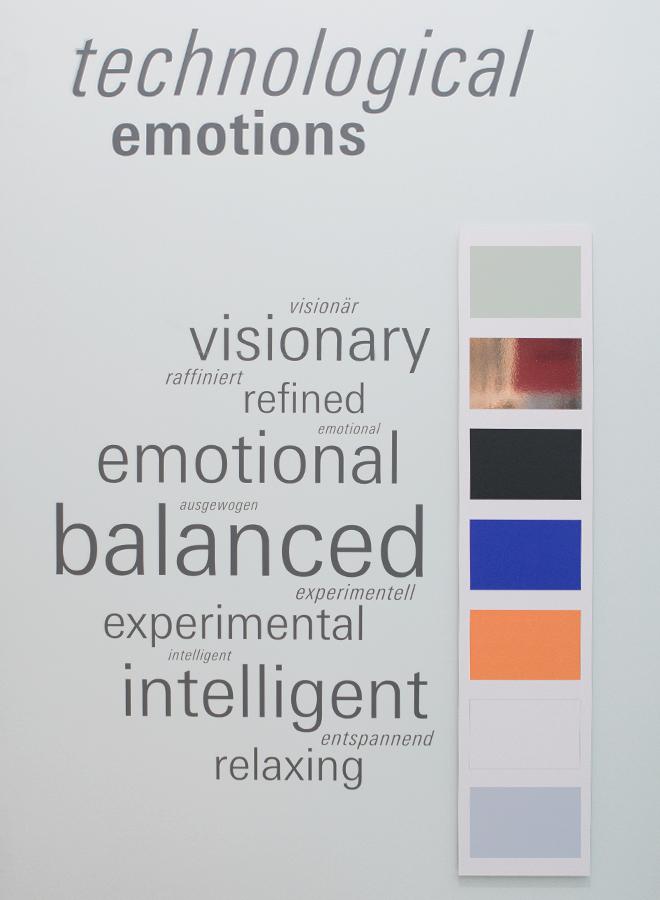 Pantone Farben für den Trend Technological Emotions auf der Ambiente 2018
