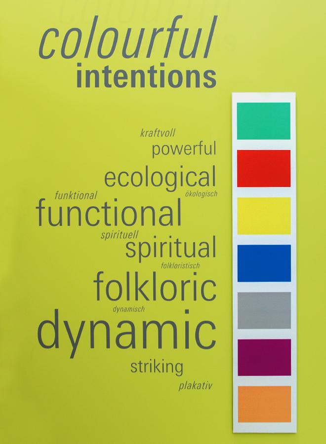 Pantone Farben für den Trend Colourful Intentions auf der Ambiente 2018