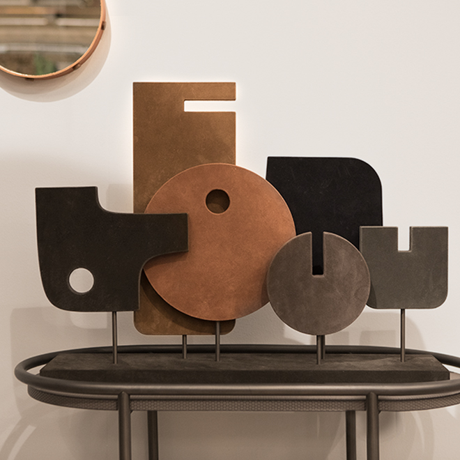 Decorative objects from suede by Giobagnara at Ambiente 2018