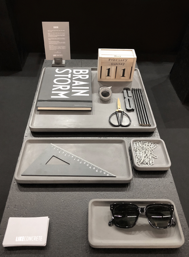 Stationery from Like Concrete at Ambiente 2018