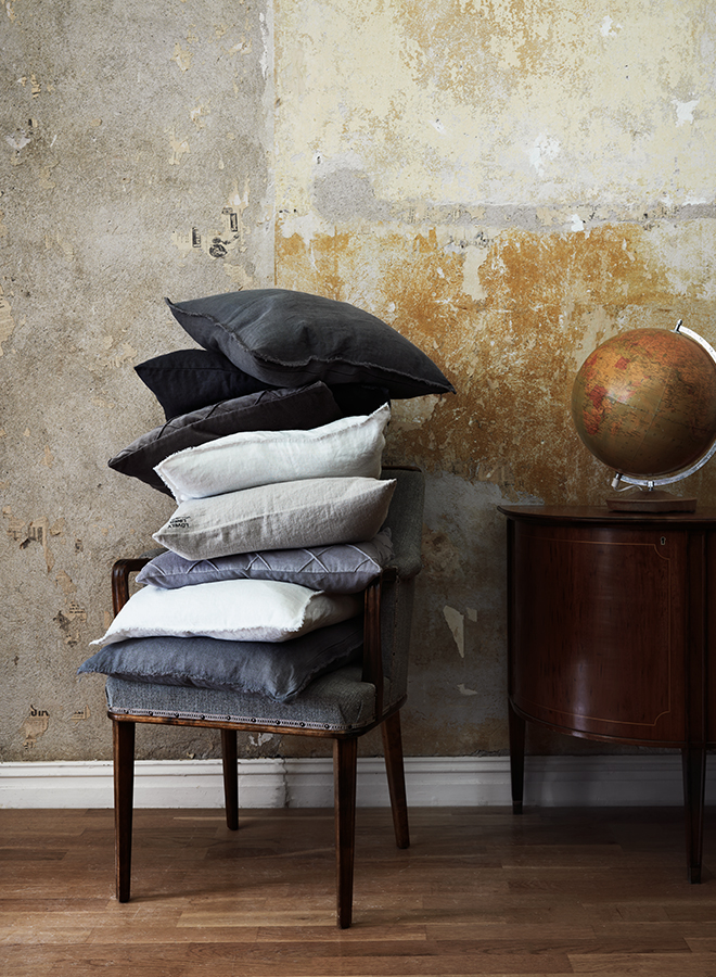 Pillows and linen pillowcases from Lovely Linen
