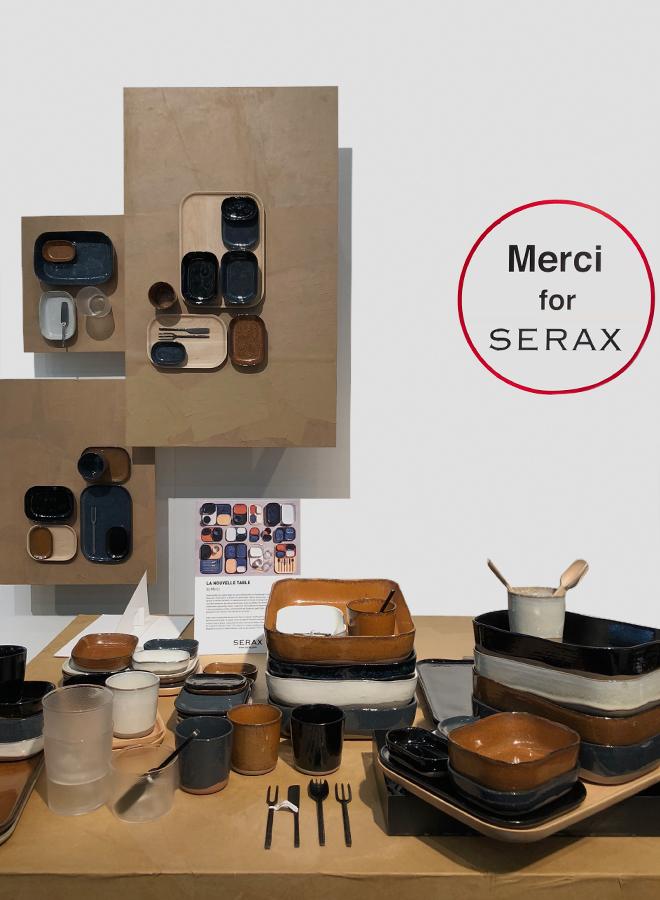 Geschirr und Besteck von Merci für Serax auf der Ambiente 2018