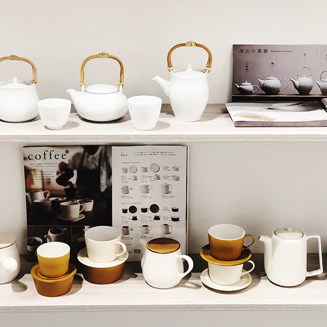Teapots and teacups from Miyama Mizunami at Ambiente 2018