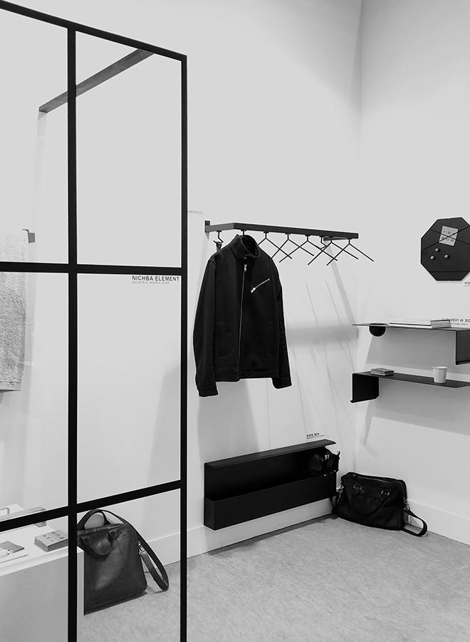 Garderobe, Schuhregal und Ablage von Nichba Design auf der Ambiente 2018